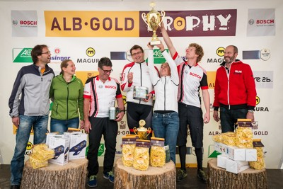 Siegerehrung German eMTB Masters epowered by Bosch